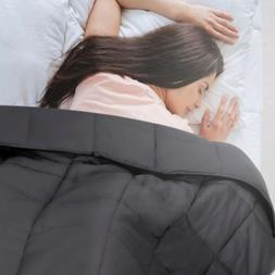 Anxiety Weighted Blanket 72 x 48 inches Twin Size 15lbs Redu
