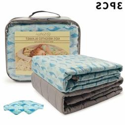 41''x60'' Kids Weighted Blanket Promote Sleep Removable Cove