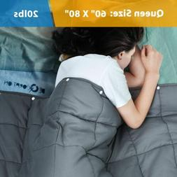 """60"""" x80"""" Weighted Blanket 2 in 1 Reduce Stress Promote Deep"""
