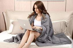 """60"""" x80"""" Weighted Blanket  Full Queen Size Reduce Stress Pro"""