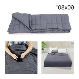 """60""""x80"""" Weighted Blanket Full Queen Size Reduce Stress Promo"""