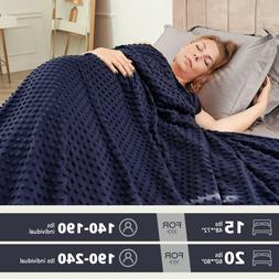 Heavy Gravity Weighted Blanket 15 / 20 lb Deep Sleep Reduce