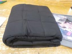 ZonLi Adults Weighted Blanket 20 lbs, Black Weighted Blan