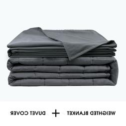 """Anxiety Weighted Blanket W/Cover 72"""" x 48"""" Twin Size 15lbs R"""