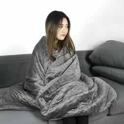 Breathable 100% Cotton 12/15/20lbs Weighted Blanket Fit to F