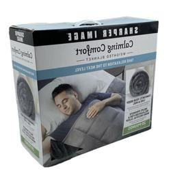 Calming Comfort Weighted Blanket by Sharper Image- A Heavy B