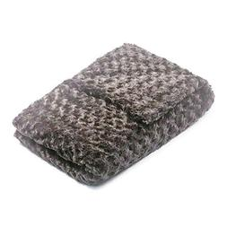 48x78-20 lb Charcoal Grey Chenille Magic Blanket - The Blank