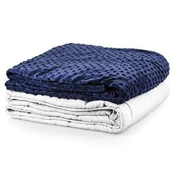 """Roore 5 lb Children's  36""""x48"""" Navy Blue and Gray Weighted B"""