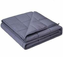 Cool Weighted Heavy Blanket 15lbs Adults Youths Cotton Gray