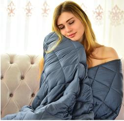 """Cooling Weighted Blanket 60"""" X 80"""" Queen Size 100% Natur"""