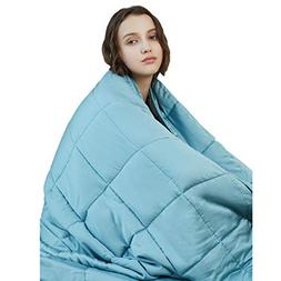 YnM Cooling Weighted Blanket, 100% Natural Bamboo Viscose, 2