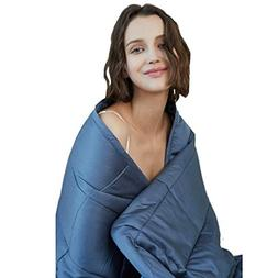 YnM Cooling Weighted Blanket, 100% Natural Bamboo Viscose, 1