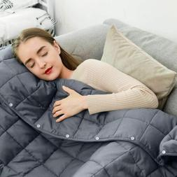 Queen Weighted Blanket for Adult Kid 100% Cotton with Glass