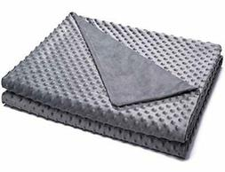 """Kpblis Duvet Cover for Weighted Blanket 36""""x48"""", Soft Cozy P"""
