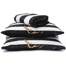 YnM Duvet Cover Set for Weighted Blankets    Two Pillow Sham