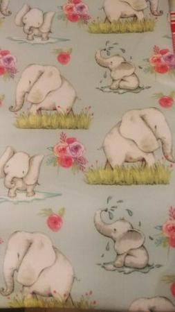 Elephants and flowers weighted blanket 15 lbs 42 x 72 twin b