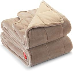 Sunbeam Extra Warm Weighted Blanket | 15 Pounds, Reversible