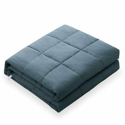GOOD SLEEP From Amy Garden Gray 15lb Weighted Quilted Blanke