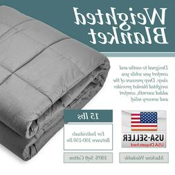 Heavy Weighted Blanket Twin / Queen Size 12lb/15lb Deep Slee