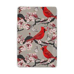 Home Decor Cardinal Peach Blossom and Butterfly Blankets and