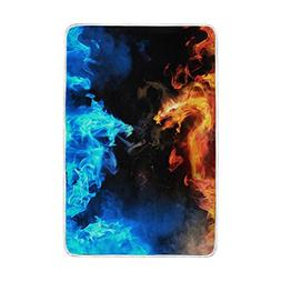 Home Decor Red and Blue Dragon and Phoenix Blankets and Thro