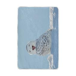Home Decor Winter Snow White Cute Owl Blankets and Throws Cr
