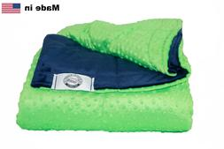 Kids Minky Weighted Blanket - Made in USA - Many Sizes & Col