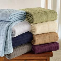 King Size Blanket Cotton Weave Light Weight Extra Cover Thro