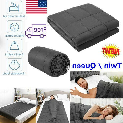 Weighted Blanket 12-20 Lbs Twin / Queen Size Weighted Sensor