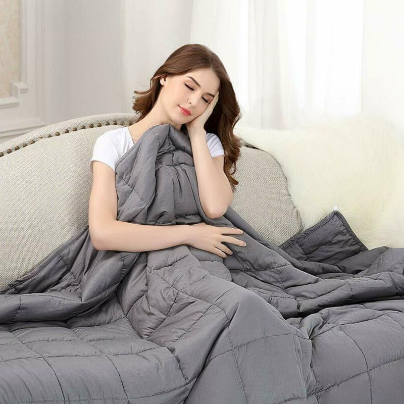 weighted sensory cure blanket insomnia anxiety 15lbs