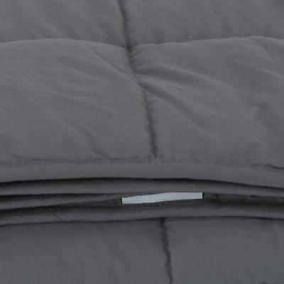 """Weighted Blanket With Cover 60"""" Reduce Stress Promote Deep Sleep"""