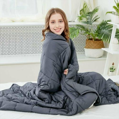 15Lb 20Lbs Weighted Blanket / Cover Queen Full Promote Deep