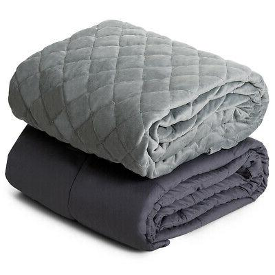 20lbs Weighted Blanket Queen/King Size 100% Cotton w/ Soft C
