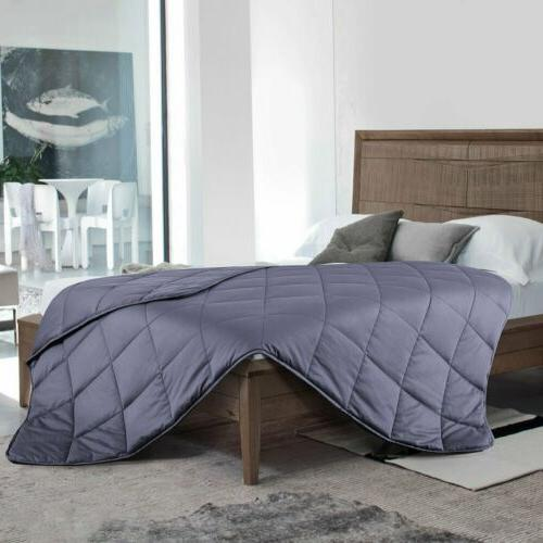 Premium Cotton Weighted Blanket King Twin Bedding Reduce Stress