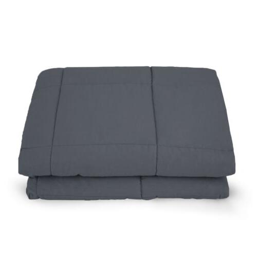 Weighted Blanket 60''x40'' 15lb Reduce Stress Promote Deep Sleep