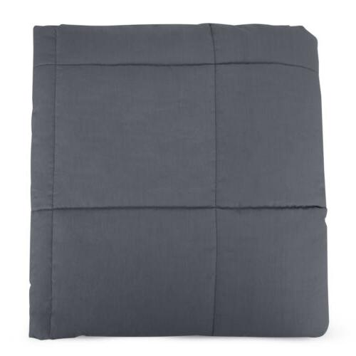 Weighted Blanket Queen 60''x40'' 15lb Reduce Stress Promote Deep Sleep