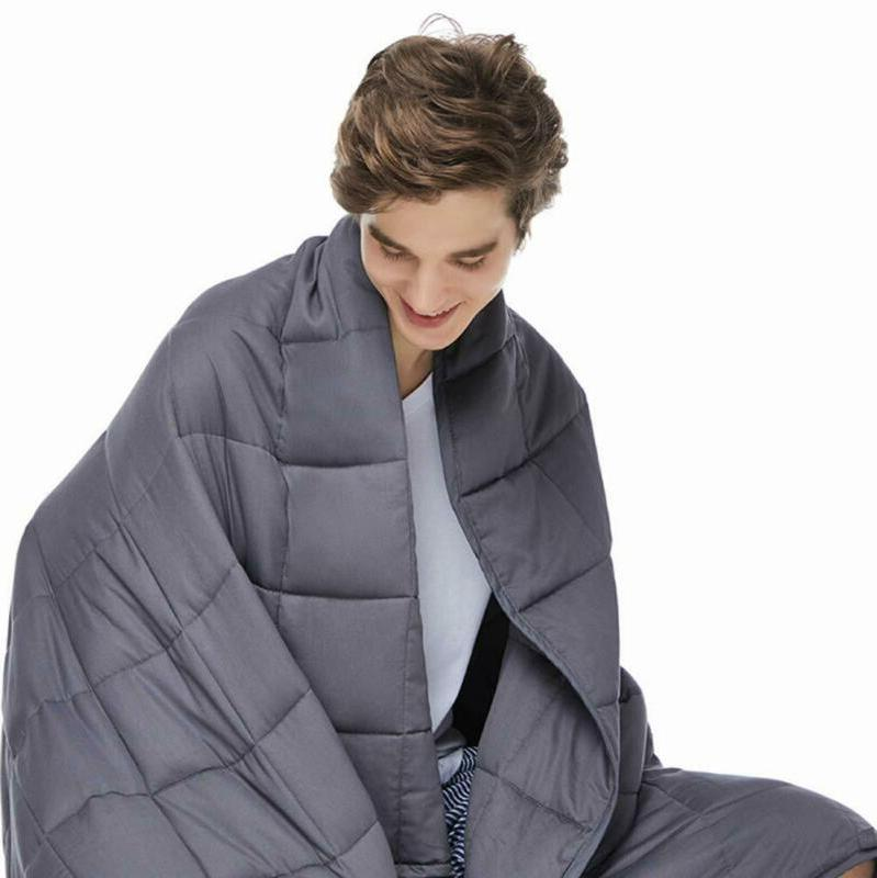 adults weighted blanket 20 lbs 60 x80