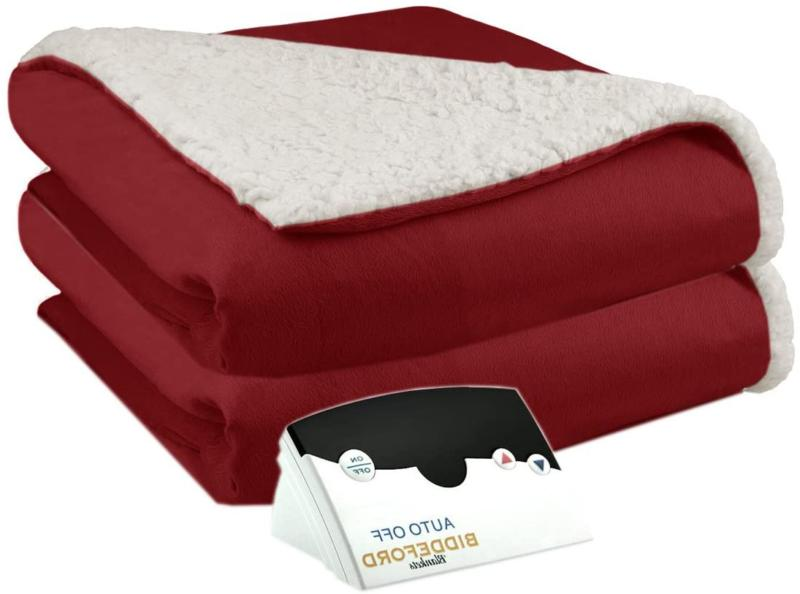Pure Warmth By Biddeford Micro Mink And Sherpa Electric Heat