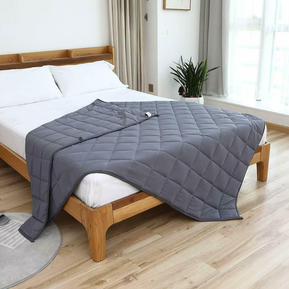 Cooling Weighted Blanket for Adults - 100% Material Glass
