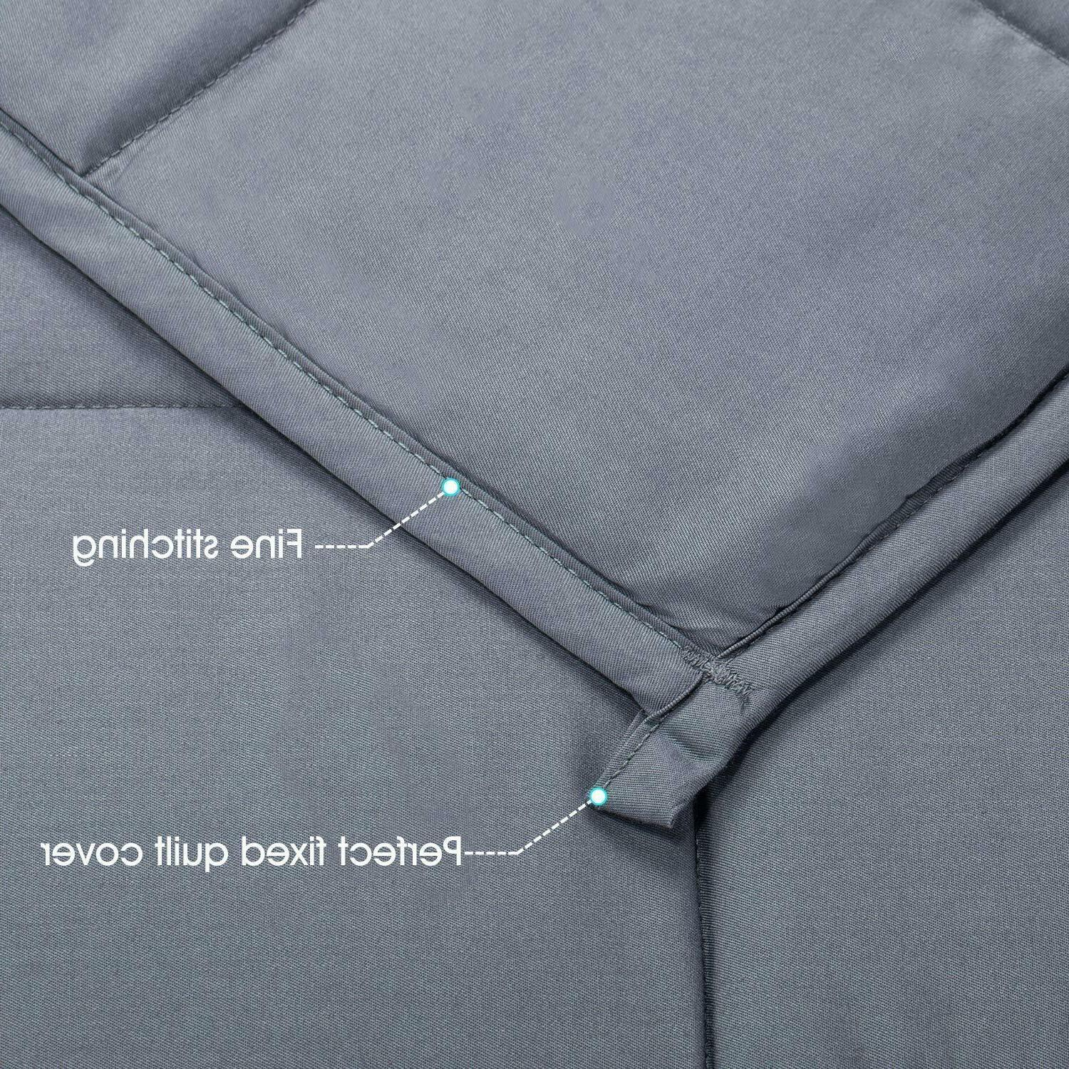 """Cotton Blanket Adults Reduce Anxiety Stress 60"""" 80"""" 25"""