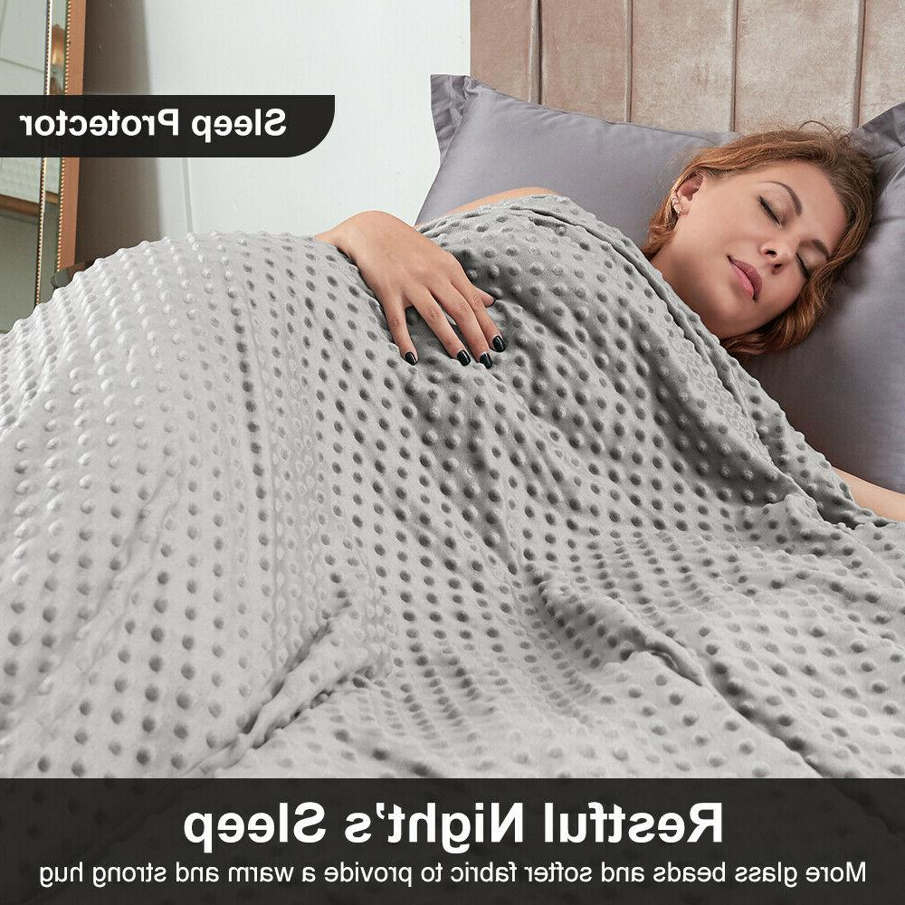 Anti-Anxiety 20 lb Queen Size Weighted Blanket w/ Washable C