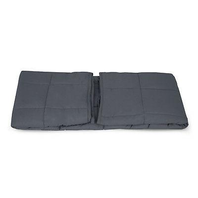 """48"""" x72"""" Weighted Blanket 15lbs Deep Glass Beads"""