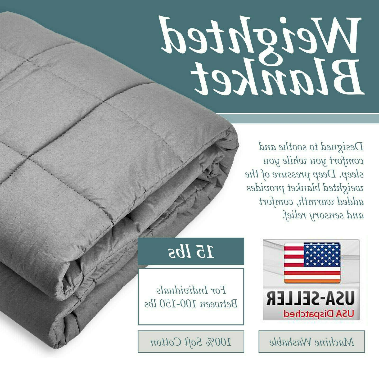 heavy weighted blanket twin queen size 15lb
