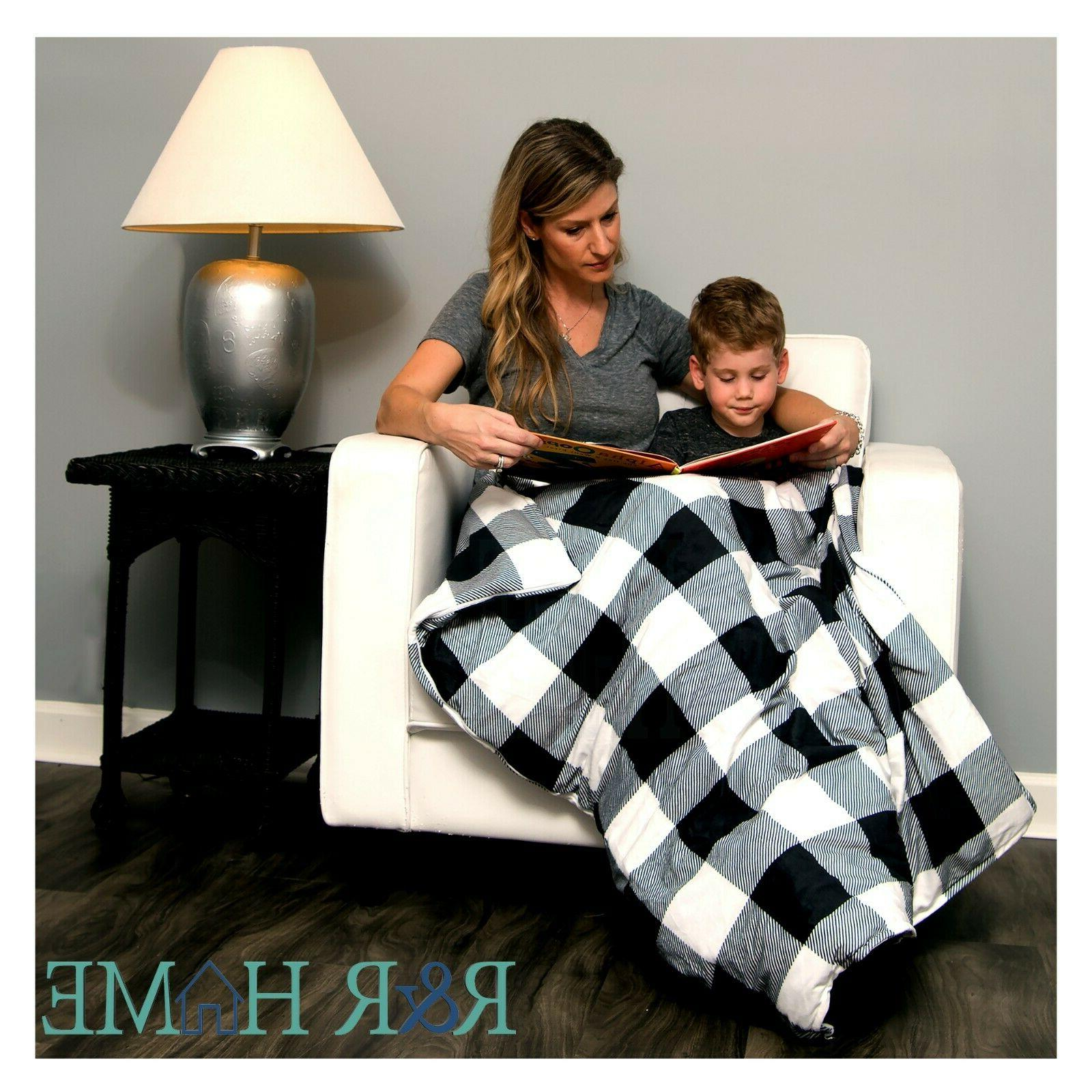 Weighted Blanket w/ Cover | | lbs | Black/White