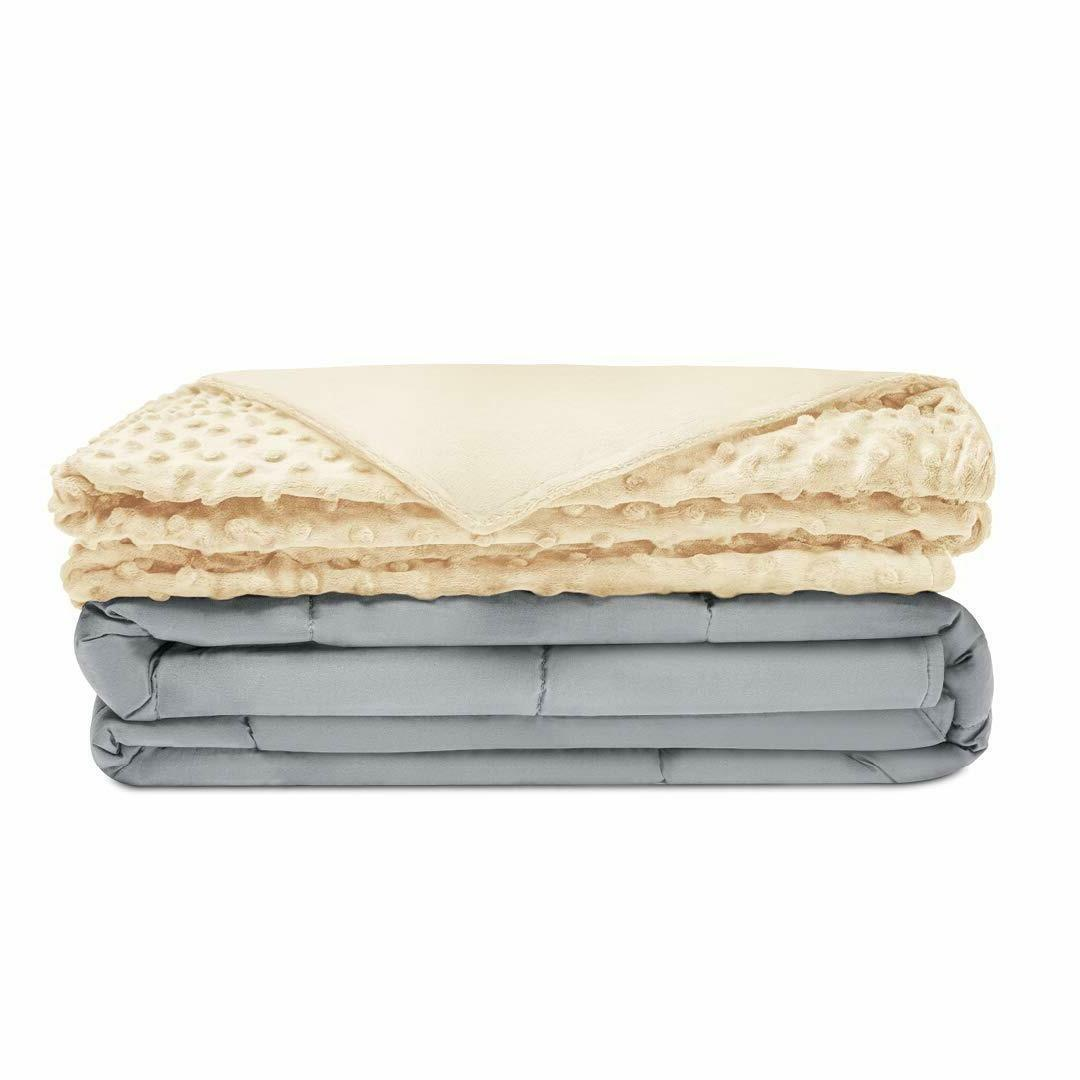 Quility Premium Adult Weighted Blanket & Removable Cover 15