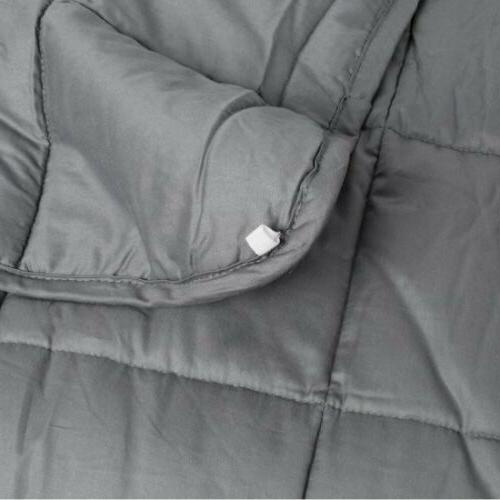 US Weighted Blanket for Adults Stress 25 LBS Relax