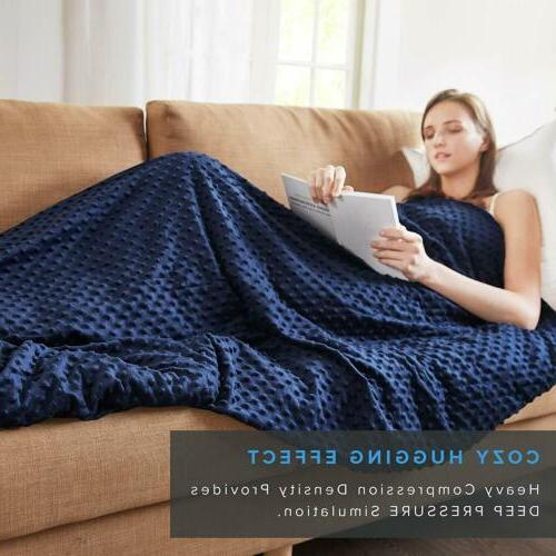 Blue Quility Premium Adult Weighted Blanket's Removable Cove