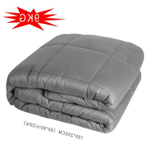 "US Home Weighted Blanket for Adults Reduce Anxiety Stress 60"" 25 LBS"