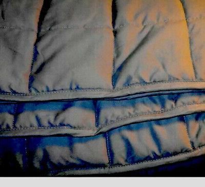 weighted blanket 48 x72 twin size grey