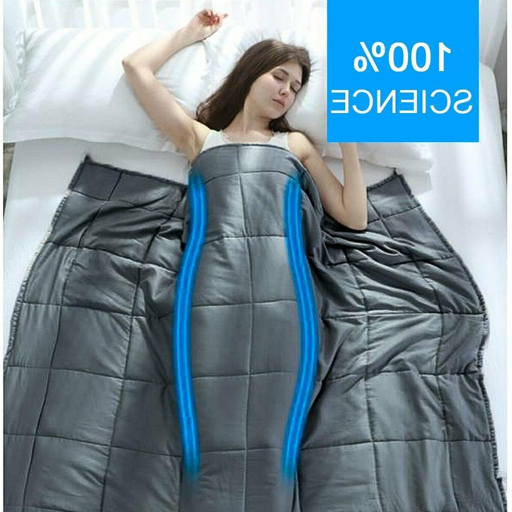 "Weighted Blanket 60"" x 80"", 48''x78'' ,40''x60'' Heavy Cotton"